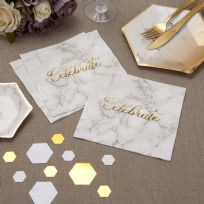 Scripted Marble Napkins (16)
